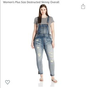 Dollhouse distressed overalls